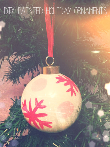 DIY Painted Holiday Ornaments