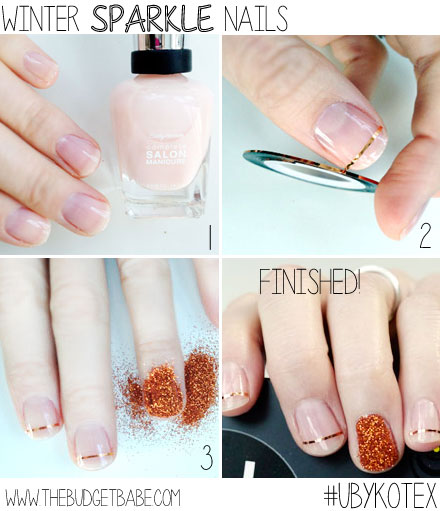 Winter Sparkle Nails DIY Tutorial