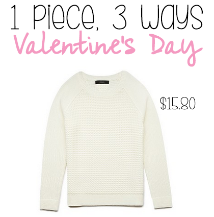 1 Piece 3 Ways: Cute and Cheap Outfit Ideas for Valentine's Day