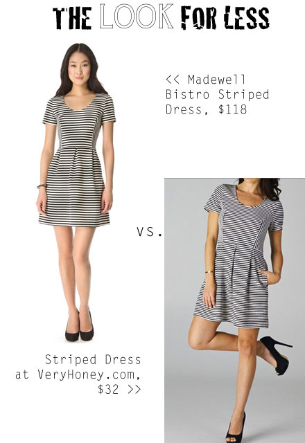 THe Look for Less: Madewell Bistro Striped Dress