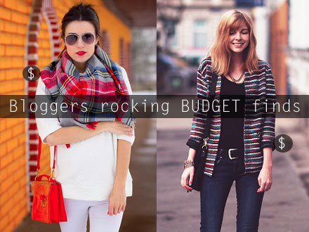 Bloggers rocking budget fashion finds