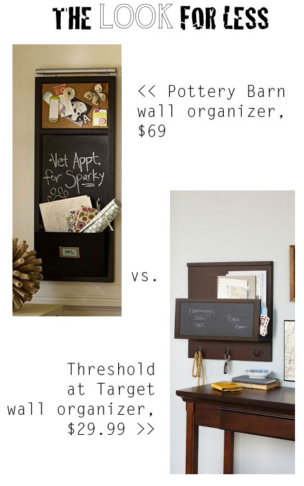 The Look for Less: Wall Organizers