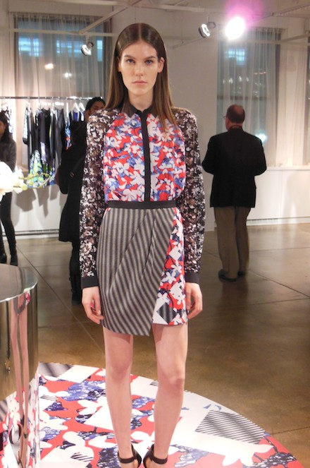 A model poses in Peter Pilotto for Target at the NYC press event.