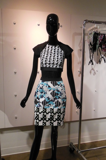 A look from the Peter Pilotto for Target spring 2014 collection at the NYC press event.