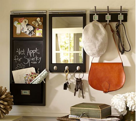 The Look For Less Pottery Barn Chalkboard Wall Organizer