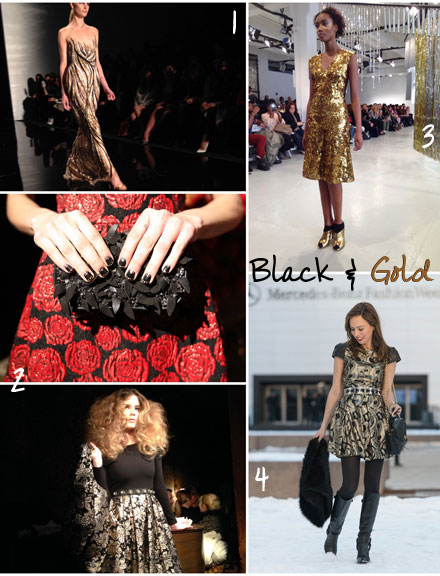 Trend to Try Now: Black and Gold