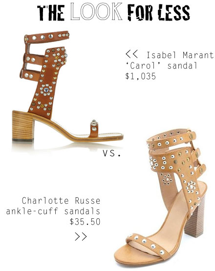 Isabel Marant Carol Sandals Look for Less // TheBudgetBabe.com