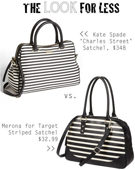 The Look for Less: Kate Spade New York Charles Street Striped Satchel