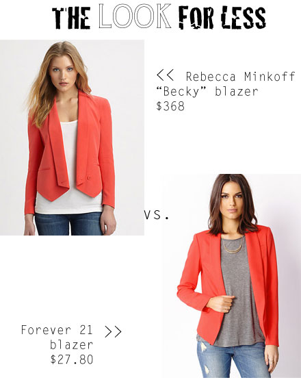 The Look for Less: Rebecca Minkoff Becky Blazer