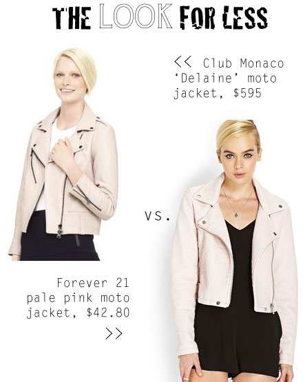 The Look for Less: Club Monaco Pale Pink Jacket