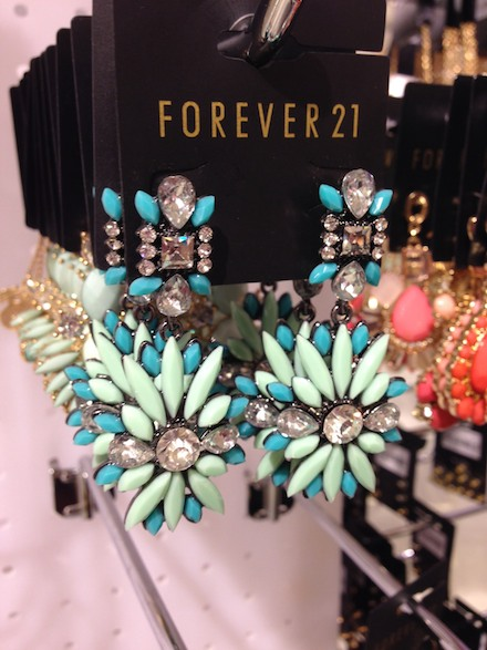 Fabulous earrings at Forever 21, $10.80