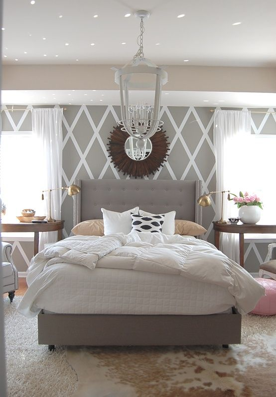 Decorate by number serene grey bedroom the budget babe - Decorating a grey bedroom ...