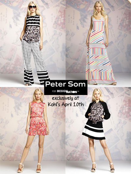 Peter Som is coming to Kohl's April 10th! Click to see the full lookbook now on www.thebudgetbabe.com.