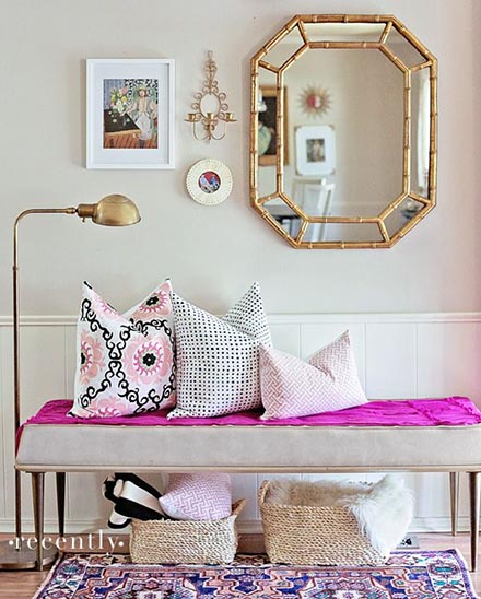 Pink Traditional Entryway look for less