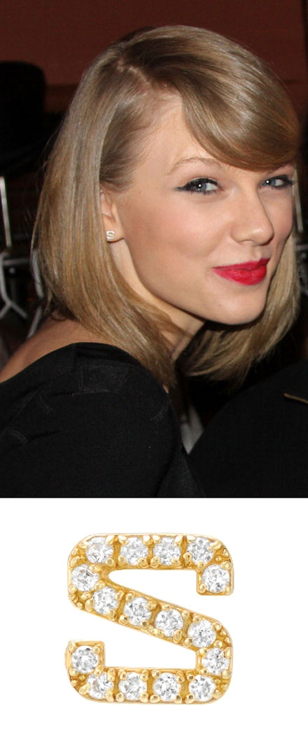 Taylor Swift's single initial earring