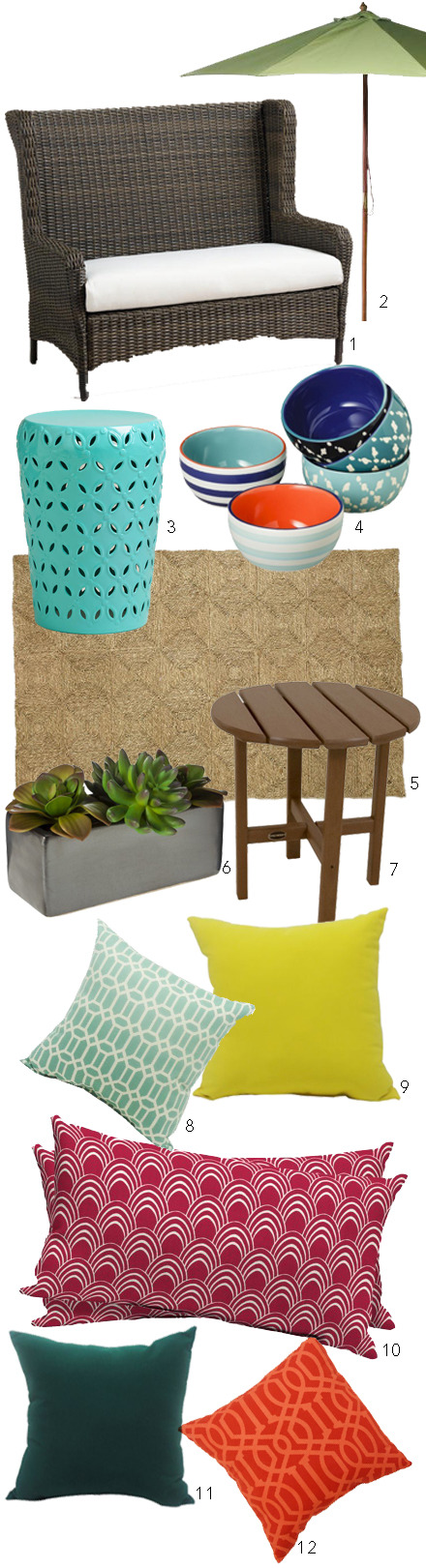 Styling a patio on a budget