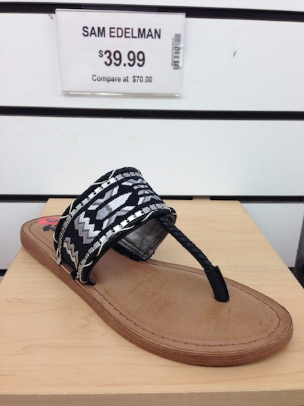 Cute sandals at Marshalls