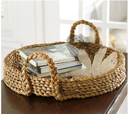 Pottery Barn Beachcomber tray plus the lookalike