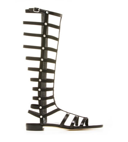 00014996d7f1 The Look for Less  Stuart Weitzman Tall Gladiator Sandals As Seen On ...