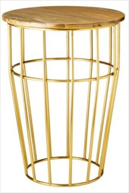Target Threshold bright brass cage table