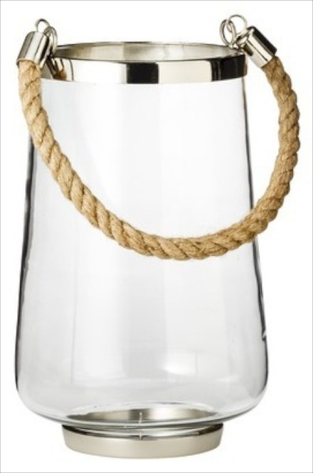 Target Threshold glass and rope hurricane