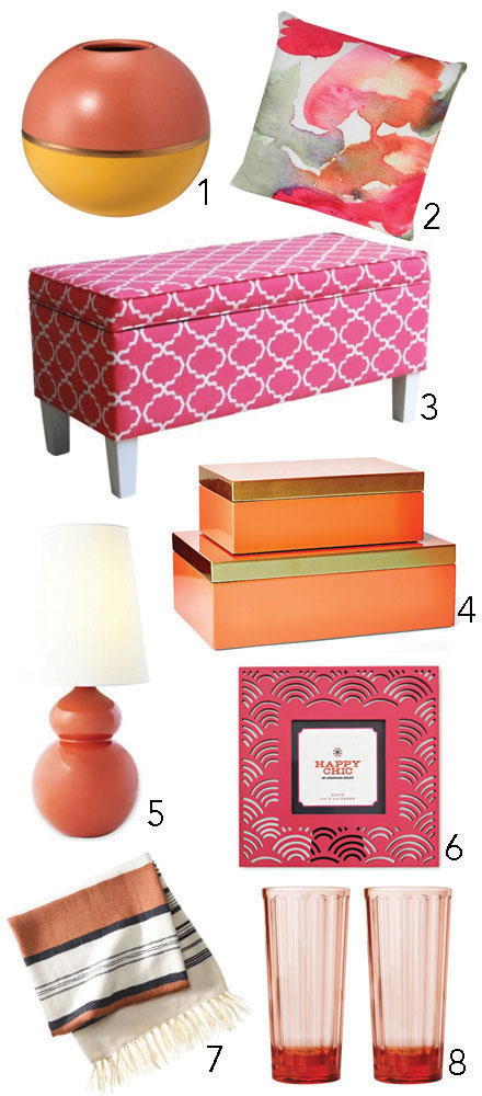 Color Crush: Coral Accents for the Home