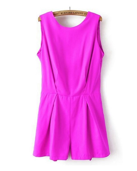 Oasap electric pink romper