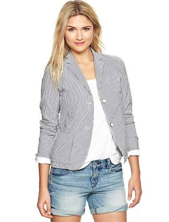Seersucker jacket at Gap