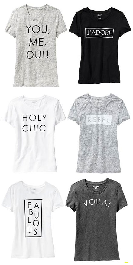 Graphic tees at Old Navy - NEED!
