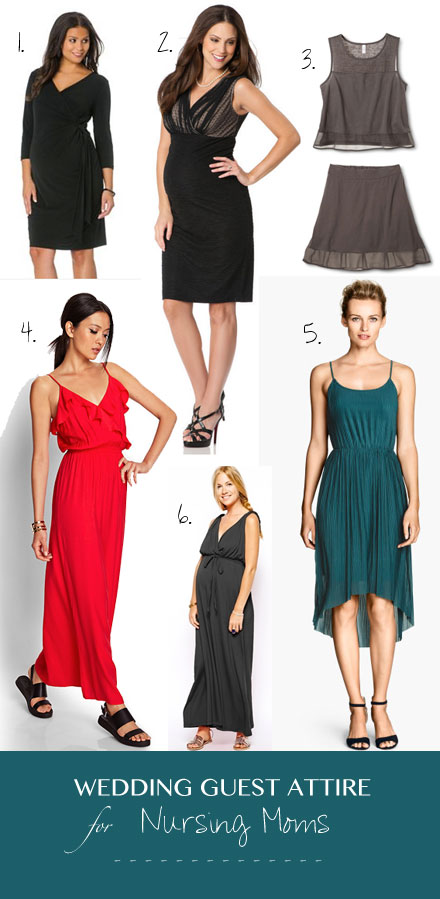 Budget-friendly wedding guest outfit ideas and dresses for nursing moms