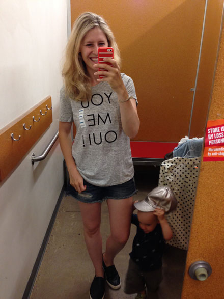 Old Navy French phrase graphic tees - yes please!