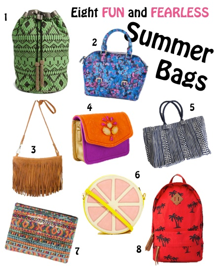 8 fun & fearless summer bags