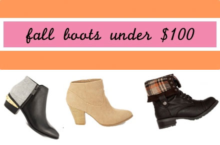 Fall Boots 2014 Under $100