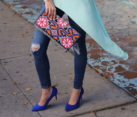 Old Navy's cobalt blue suede pumps are gorgeous (and a steal!)