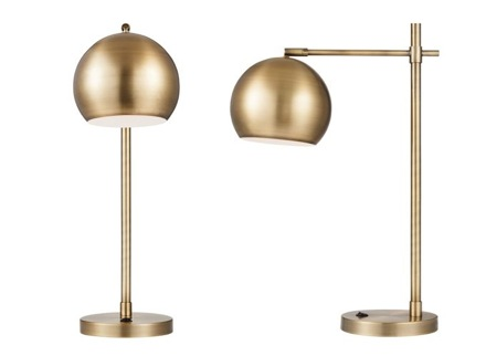 A brass desk lamp adds a vintage flair. - Here's What We Love From Target's Fall 2014 Home Collection