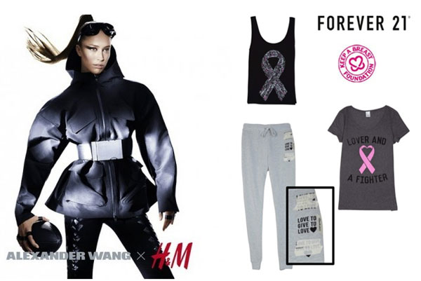 Alexander Wang x H&M, Forever 21 Breast Cancer Collection and More