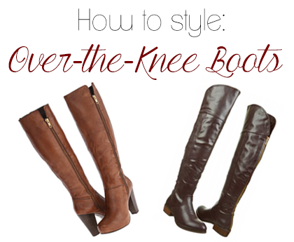 How to Style Over the Knee Boots 3 Ways