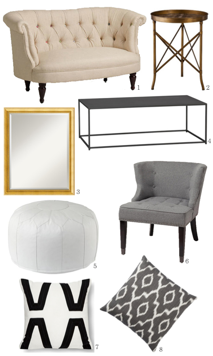Lauren Conrad's luxe living room look for less!