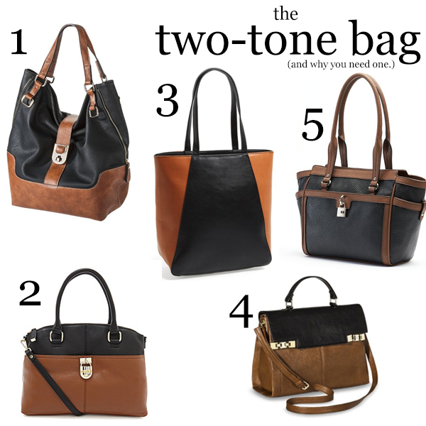 Two Tone Bags on a Budget for Fall 2014