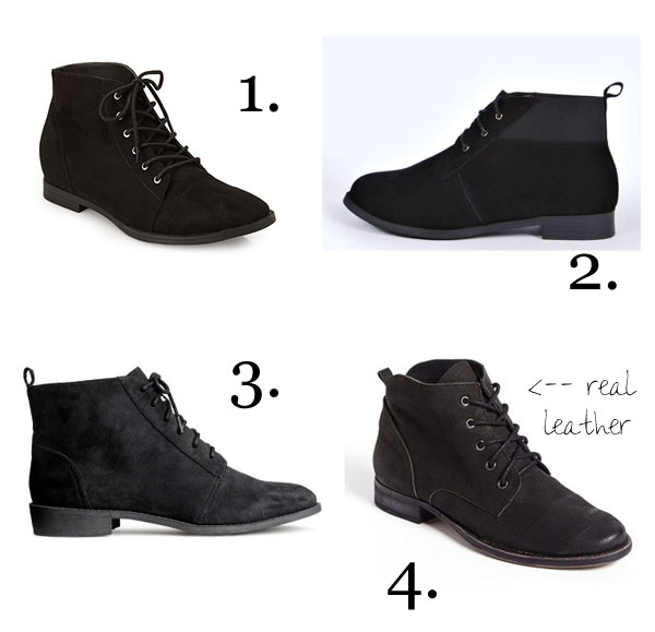 Black ankle boots under $50