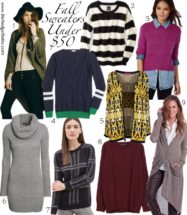 Fall Sweater Guide: Picks Under $50