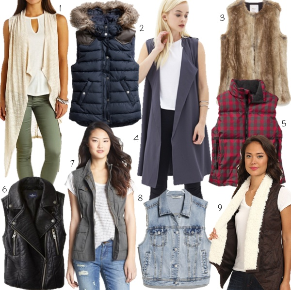Fall fashion vests on a budget
