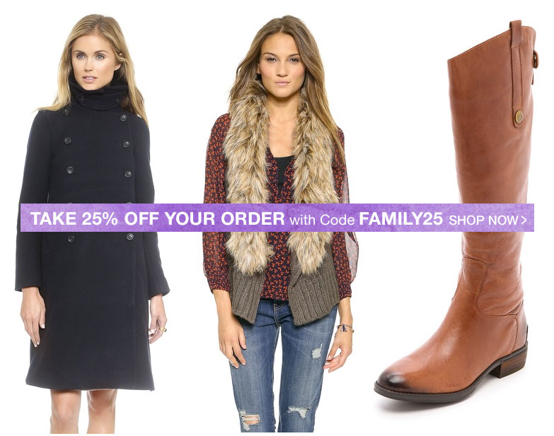 Shopbop Friends & Family Sale is HERE!