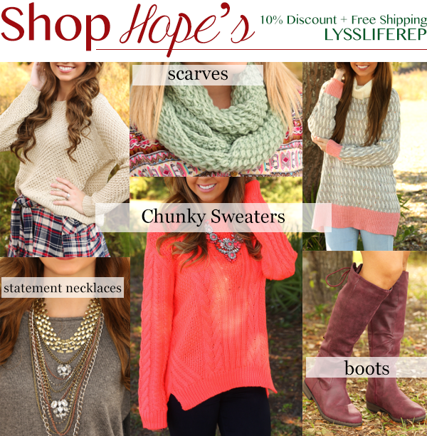 Shop Hope's discount coupon code promo