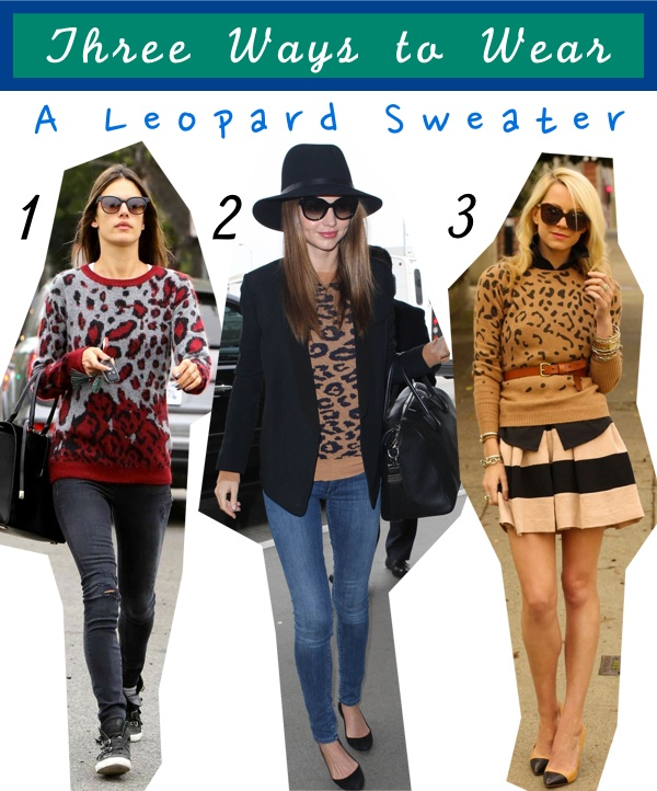 Three Ways to Wear: Leopard Sweater - The Budget Babe | Affordable ...