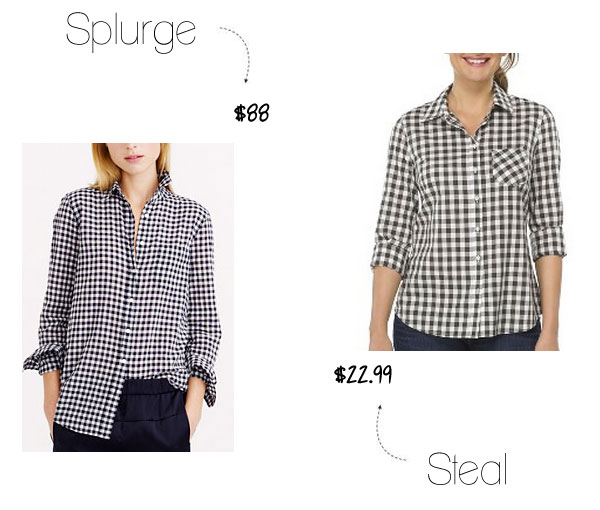 J.Crew check shirt look for less