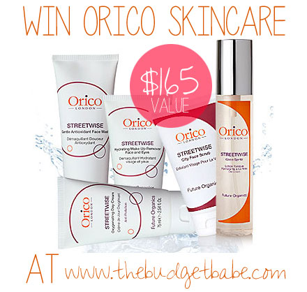 Win Orico London Organic Skincare from www.thebudgetbabe.com!