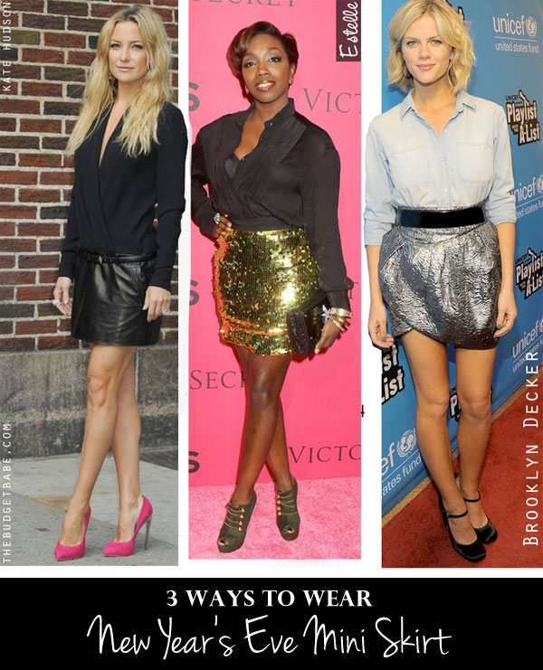 3 ways to style a mini skirt for a night out!