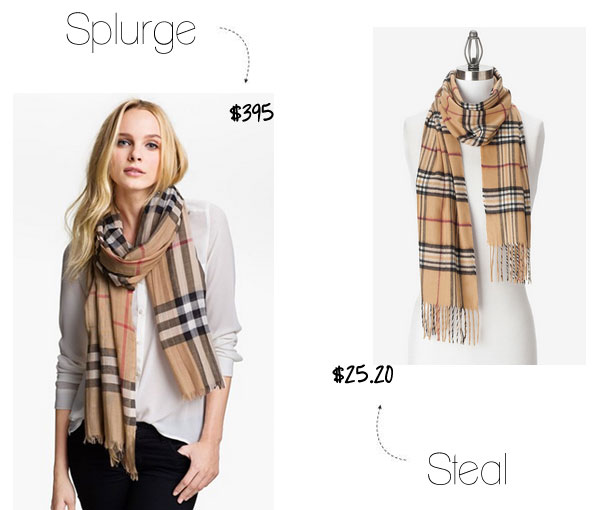 Burberry scarf look for less