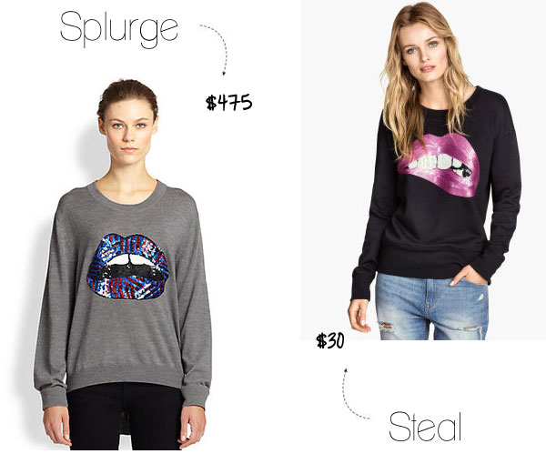 Marcus Lupfur lips sweater look for less